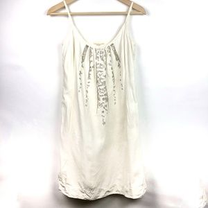Eileen Fisher Dress Linen Sequin Short XS